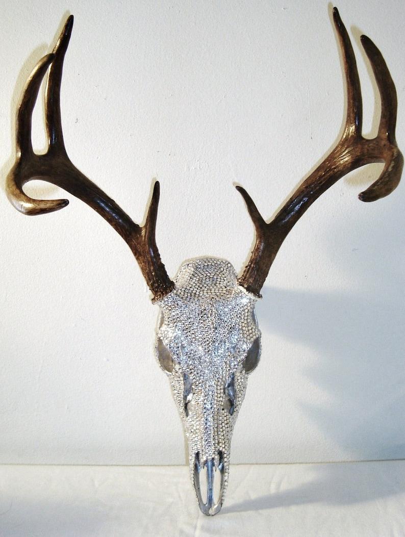 6d1dacd1584 Deer Skull Crystal Rhinestones ArtCUSTOM ORDER