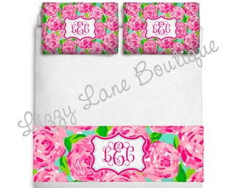 Custom Personalized Monogrammed Bed Runner / Bed Scarf or SET (Twin, Full/Queen, or King) - Great for Dorms!