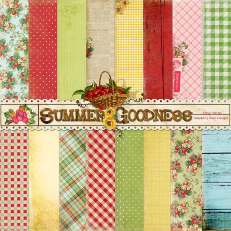 Summer Goodness Paper Set