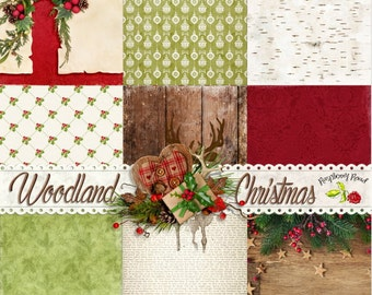 Woodland Christmas Paper Set