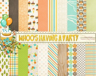 Whoo's Having a Party - Boy Paper Set