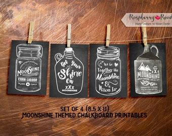 Moonshine Chalk Art