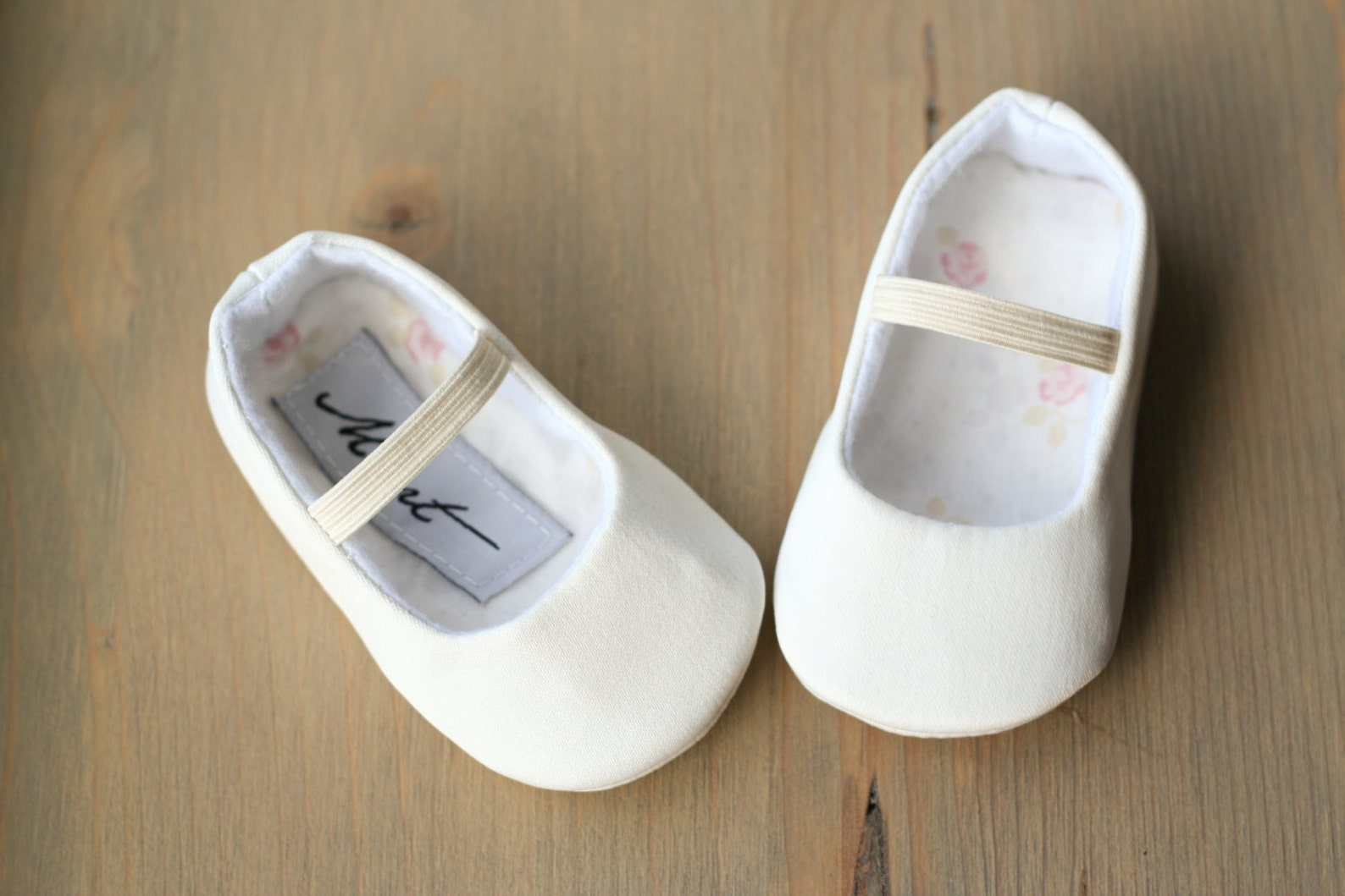 plain white baby ballet slippers, christening shoes, ivory ballerina flats, plain baptism shoes, baby wedding outfit, flower gir