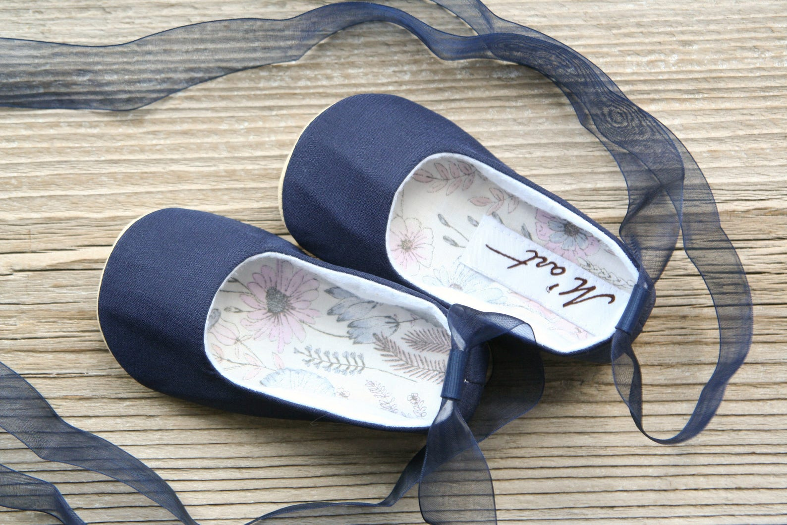 navy baby ballet shoes, blue baby ballerina shoes, baby christening shoes, baptism shoes, wedding baby outfit, baby slippers