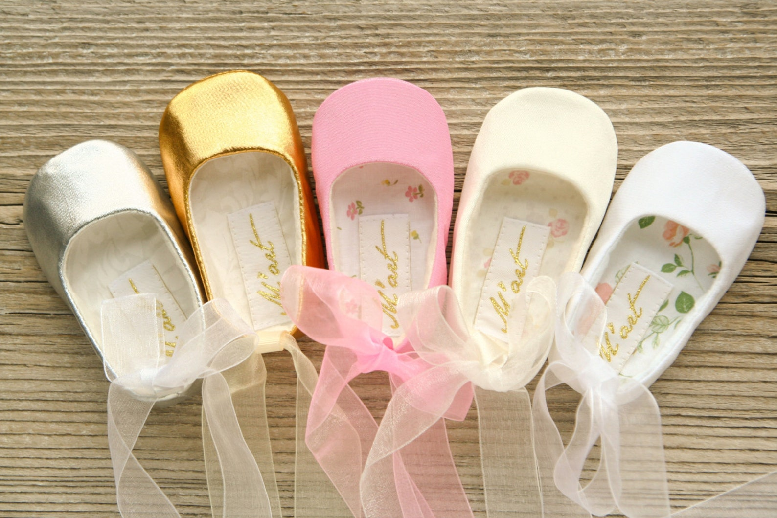 flower girl shoe, baby ballet shoes, baby ballerina flats, white ivory pink gold silver shoes, christening shoes, ballerina baby