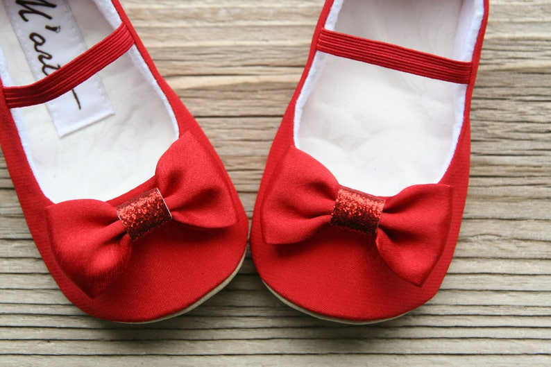 Red shoes Baby girl glitter shoes Christmas baby shoes  d2048f02e