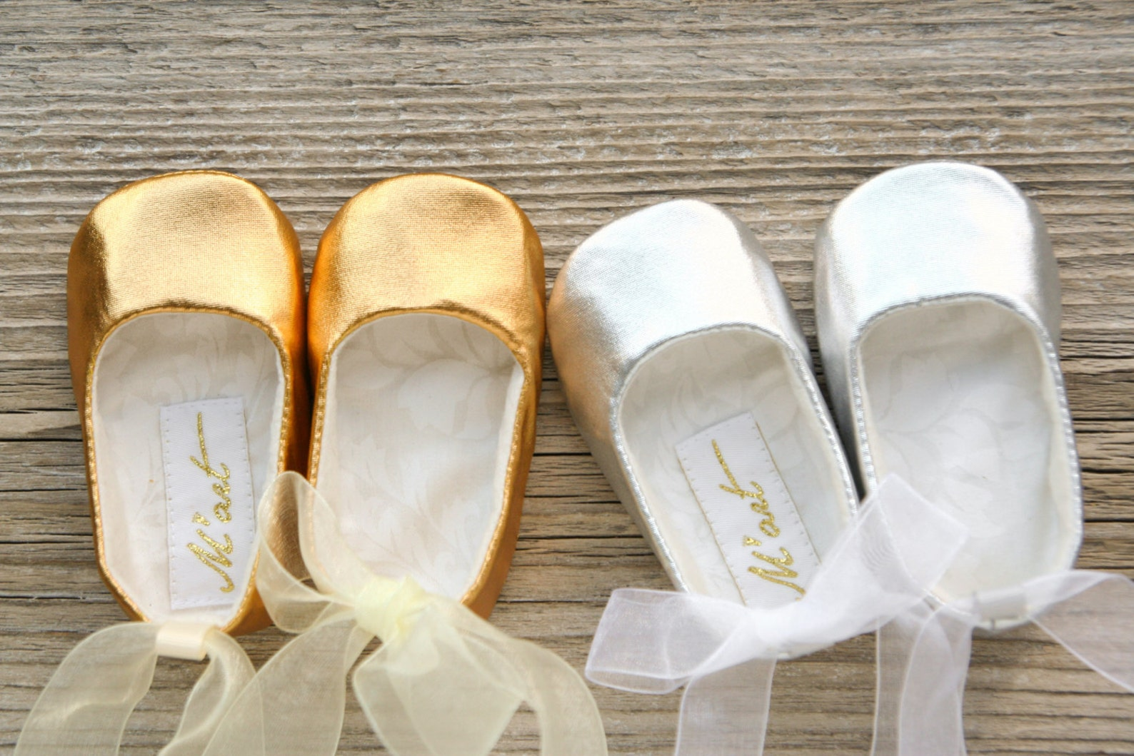 baby ballet shoes, baby ballerina shoes, white ivory pink gold silver shoes, christening shoes, ballerina baby shower gift, wedd