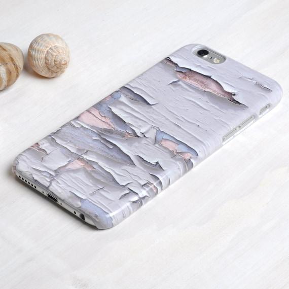 Phone Case iPhone Samsung Distressed Peeling White Paint Textured Design
