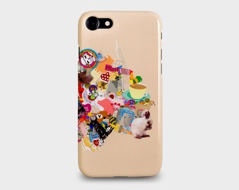 """iPhone 7, 7 PLUS Phone Case Cute """"Stickers"""" from childhood design by Mia Christopher"""