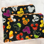 Reusable Snack Bags in Spooky Mouse Cookies
