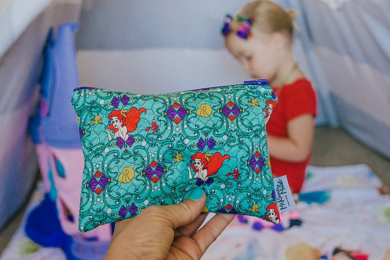 Zipper Pouch  Princess Gift  Gift For Her  Reusable Snack image 0