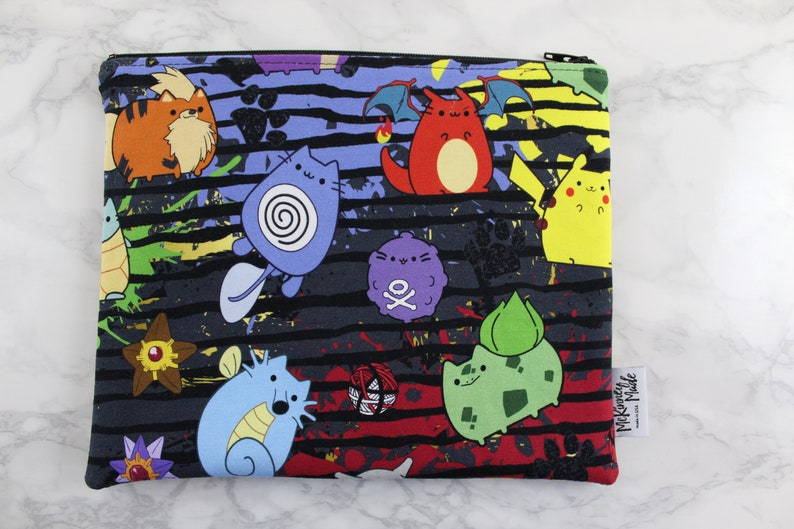 Big Bag  Reusable Bag  Lunch Sack  Makeup Bag  Zipper image 0