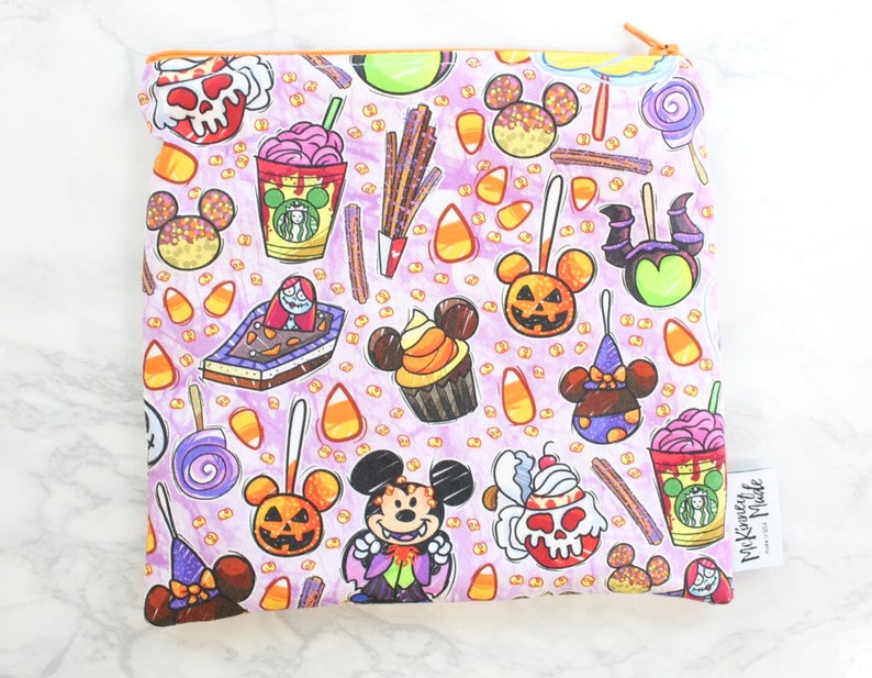 Reusable Snack Bags in Tricky Mouse Snacks Purple image 0