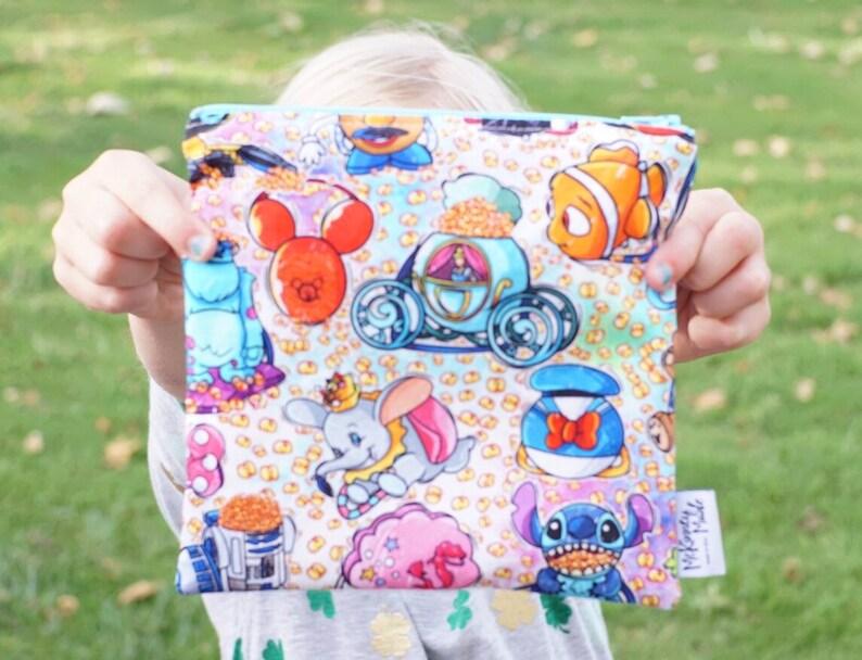 Reusable Snack Bag  Zipper Pouch  Reusable Sandwich Bag in image 0