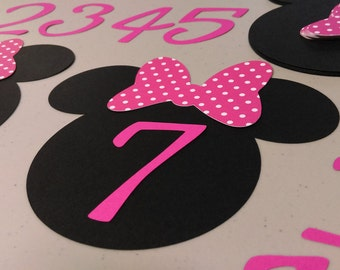 DIY Minnie Mouse Birthday Banner Polka Dots Months NB To 12 Decorations Clubhouse