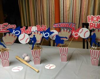 Superbe Baseball Centerpiece 4 All Star Baseball Centerpiece Glove ...