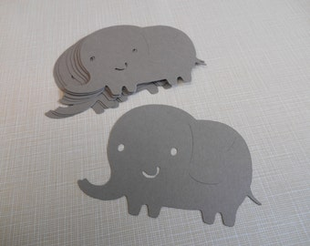 Elephant Die Cuts, 18 Elephant Cut Outs, Elephant Sillouettes