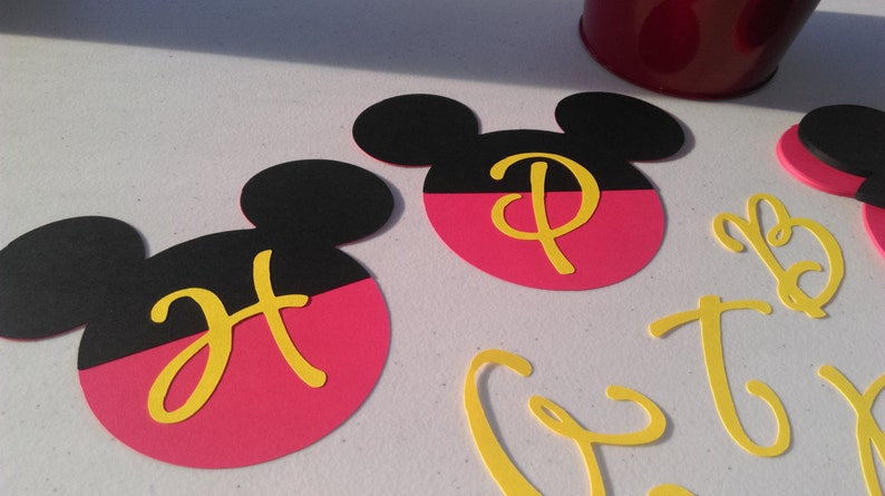 DIY Mickey Mouse Birthday Banner Decorations