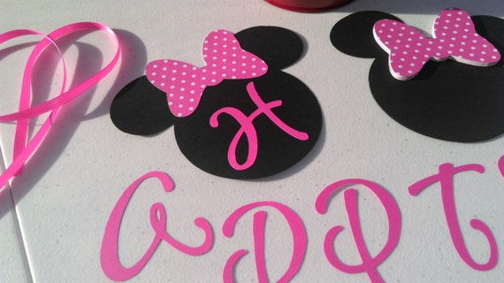 DIY Minnie Mouse Birthday Banner Decorations