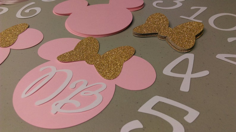 Diy Minnie Mouse Birthday Banner Months Nb To 12 Months Etsy