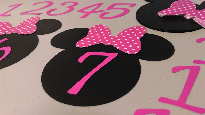 Diy Minnie Mouse Birthday Banner Polka Dots Months Nb To 12 Etsy