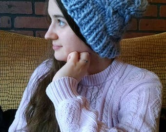 017f039b2b255 Made to Order - Dragonfly Beanie - Super Chunky Yarn Slouchy Hat - Adult  Sizes
