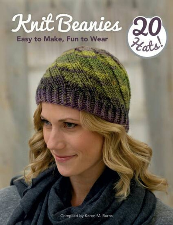 Ready To Ship Knit Beanies Book 20 Hat Knitting Patterns Etsy