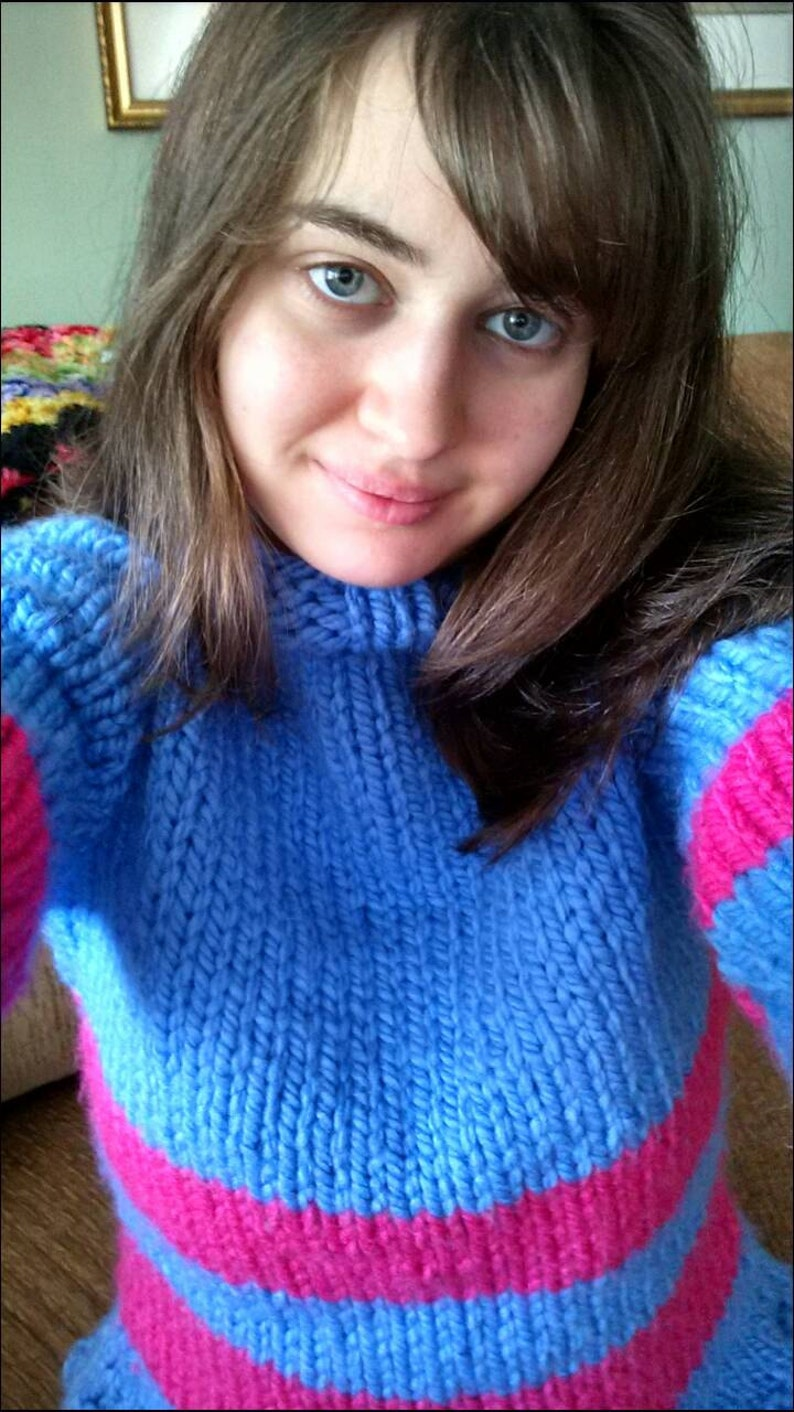 Frisk Sweater  S M L  Made to Order Video Game Protagonist image 1