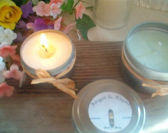Driftwood Soy Candle, 2 oz.+ 4 oz., Tin Container Candle, Beach Rain, Driftwood, Earthy. Aromatic, Fresh Made