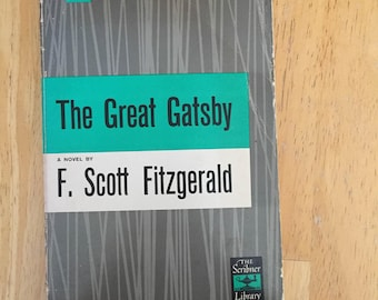 The Great Gatsby by F. Scott Fitzgerald  (1953 the scriber library, Paperback)