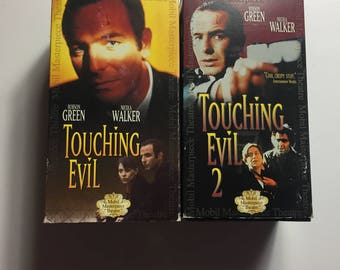 LOT OF 2 Touching Evil 1& 2 (VHS, 1998, 3-Tape Set)