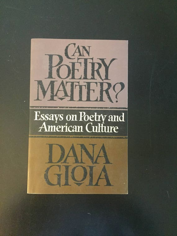 Can Poetry Matter  Essays On Poetry And American Culture By  Etsy Image