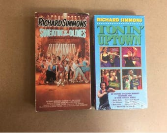 LOT OF 2 Richard Simmons - Sweatin to the Oldies (VHS, 1990)