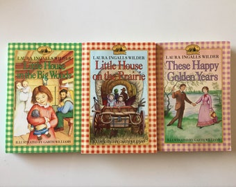 Lot Of 3 Little House on The Prairie Books By LAURA INGALLS WILDER (Paperbacks)