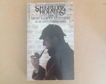 Sherlock Holmes: His Most Famous Mysteries by Sir Arthur Conan Doyle (VTG, PB)