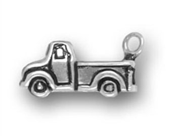 Truck Charm - Sterling Silver Charm - SALE