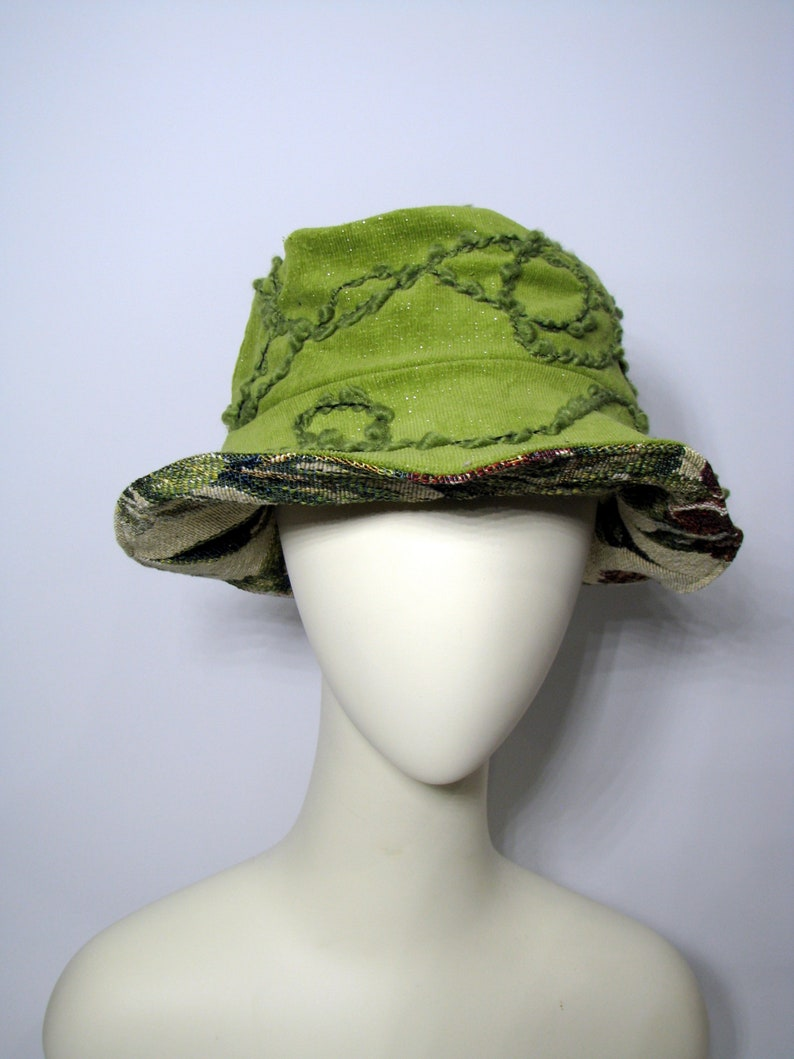d9755a6c2e832 Hat Green hat winter hat Bucket Hat Reversible Unisex hat