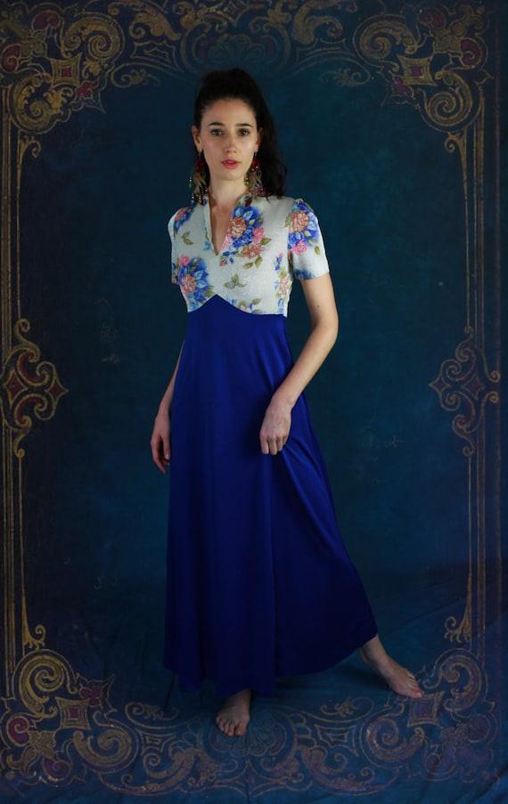 66bfe19ecba5 Vintage lame evening maxi dress / I dream of Jeannie 60s | Etsy