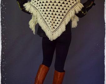 negozio online informazioni per regno unito Vintage lana 70s poncho scialle o gonna di lana Abbigliamento ...