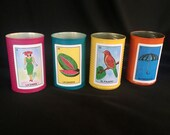 Loteria Tin Can Wedding Party Decor Centerpiece