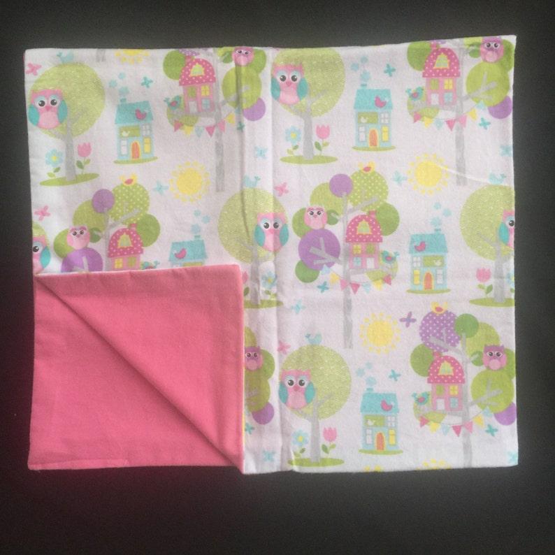 Pink Owl Handmade Baby Blanket