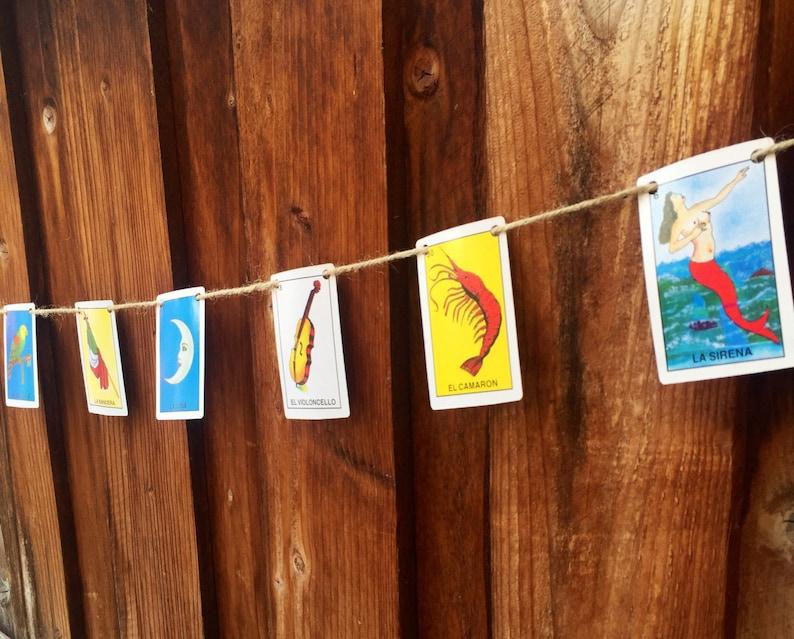 La Loteria Card Garland Wedding Party Decor