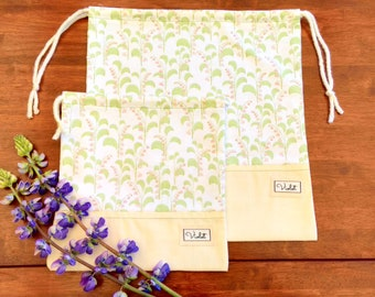 Lily of the Valley Drawstring Bag Set