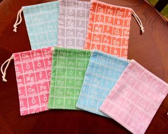 Periodic Table Drawstring Bags