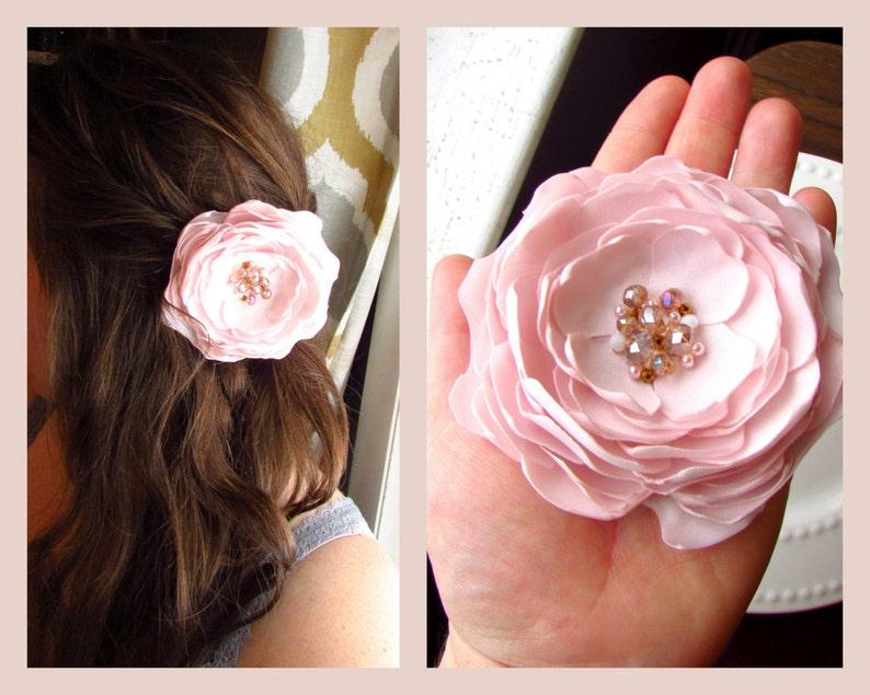 Petal Hair Flower Blush Pink Bridesmaid Dresses