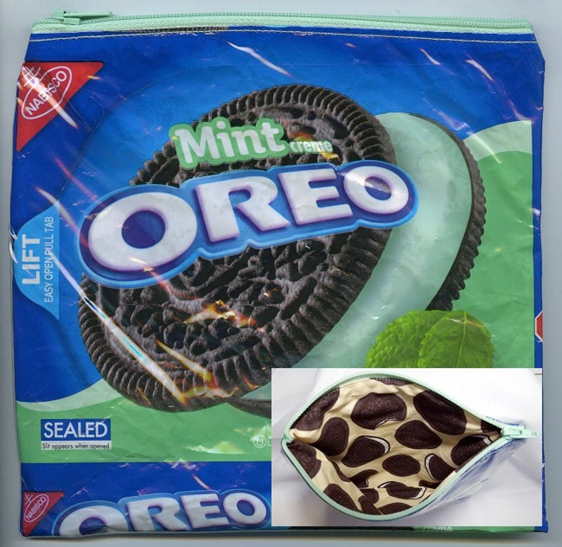 Oreo Original Mint Cookie Upcycled Zippered Bag