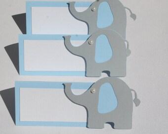 Elephant place card. Elephant food tent card. Elephant baby shower.