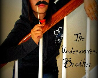 Mustache on a Stick - The Undercover Brother-Little Man Party-Mustache on a Stick-Photo Props-Photo Booth-Mustache Party-Mustache Theme