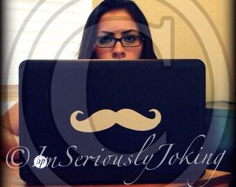 Mustache Decal-Mustache sticker-The Handlebar- Laptop Stache- Little Man Party-car decal-laptop decal-Mustache Theme-Little Man