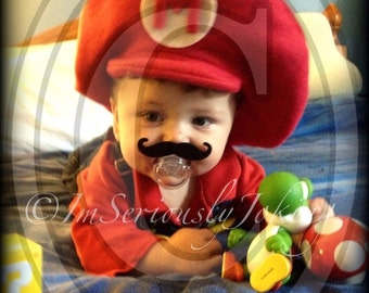 Mustache Pacifier-Baby Mustache-Little Man Party-Mustache Party-baby Shower gift-The Handlebar-Baby gift-Mustache theme-mustache pacifier